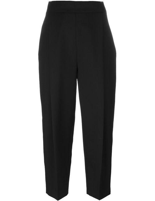 Paule Ka | Женское Чёрный Cropped Trousers 38 Cupro/Virgin Wool