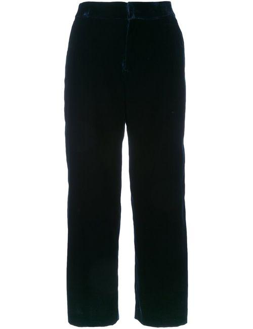 Cityshop | Женское Синий Cropped Trousers 38 Polyurethane/Cupro/Rayon