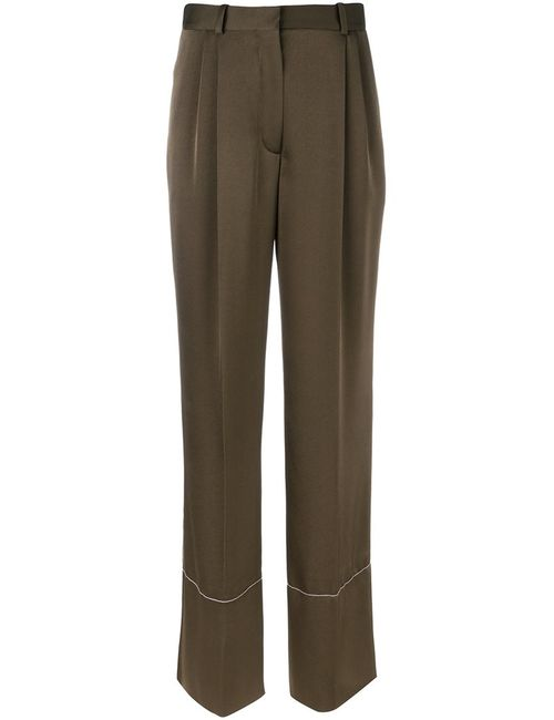 Sonia Rykiel | Женское Зелёный Straight Leg Trousers 40 Polyester/Triacetate