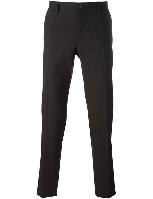 Dolce & Gabbana | Мужское Чёрный Tailored Trousers 48 Cotton/Spandex/Elastane/Virgin Wool