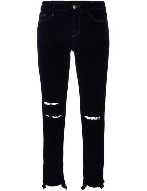 J Brand | Женское Чёрный Distressed Cropped Jeans 26 Cotton/Polyester/Spandex/Elastane/Viscose