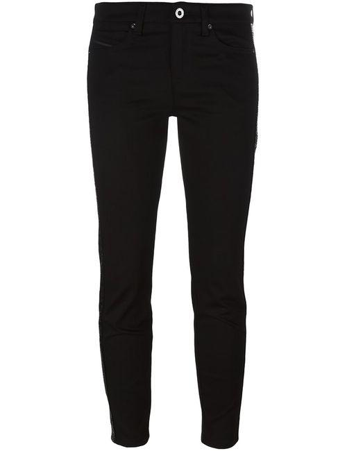 Diesel Black Gold | Женское Чёрный Cropped Skinny Jeans 28 Cotton/Polyester/Spandex/Elastane