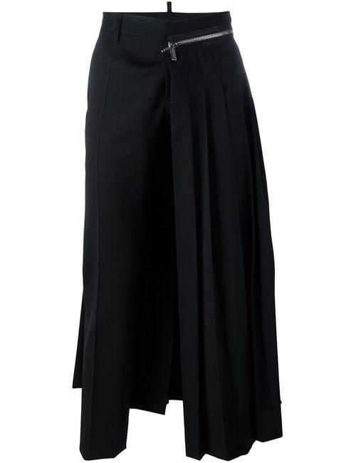 Dsquared2 | Чёрный Punk Pleated Trousers 50 Spandex/Elastane/Virgin Wool