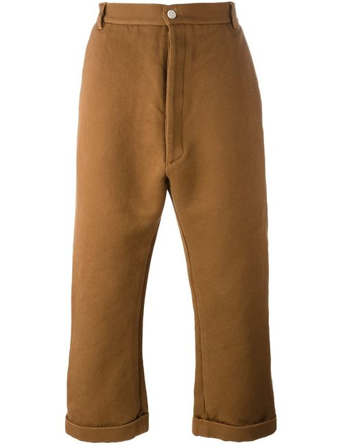 Sunnei | Коричневый Flared Cropped Trousers Xl Cotton