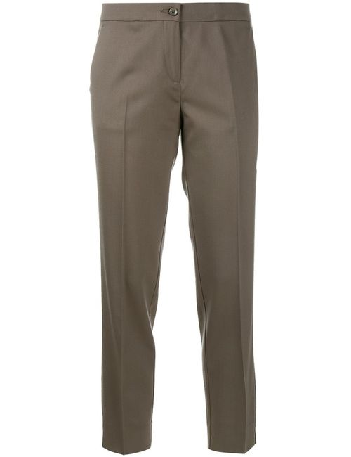 Etro | Женское Серый Cropped Tailored Trousers 48 Spandex/Elastane/Wool