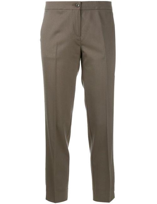 Etro | Женское Серый Cropped Tailored Trousers 48 Spandex/Elastane/Wool