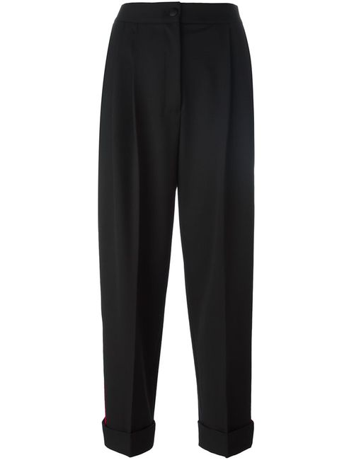 Dolce & Gabbana   Женское Чёрный Stripe Appliqué Trousers 38 Nylon/Spandex/Elastane/Virgin