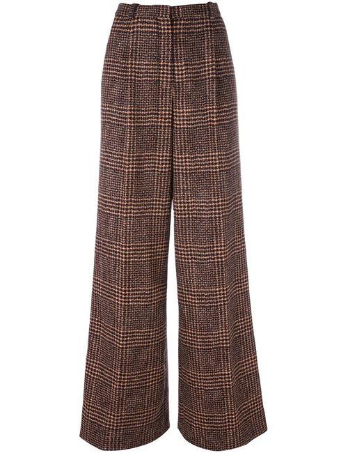 Sonia Rykiel | Черный Checked Tweed Trousers 38 Viscose/Wool/Alpaca