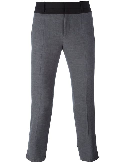 Neil Barrett | Серый Cropped Tailored Trousers 46 Cotton/Polyester/Virgin Wool