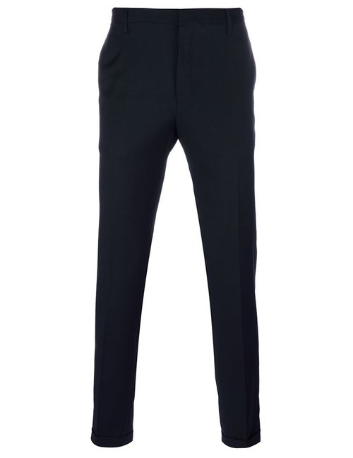 Paul Smith | Мужское Синий Slim Fit Tailored Trousers 36 Cupro/Wool