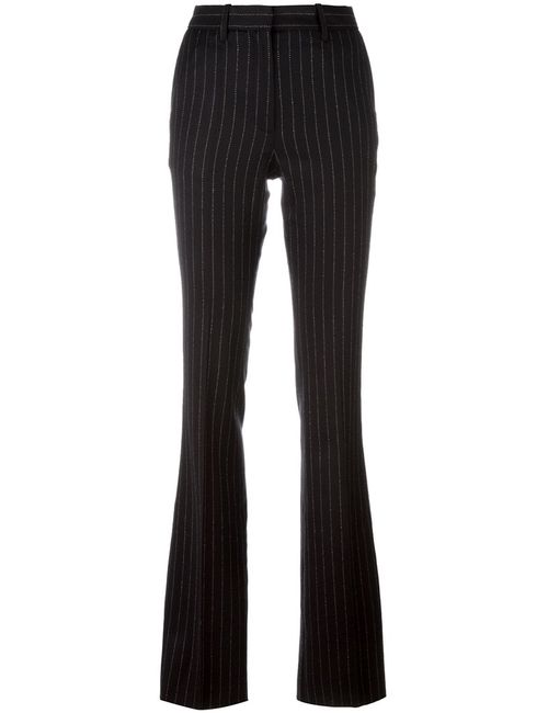 Barbara Bui | Женское Чёрный Pinstriped Flared Trousers 38 Spandex/Elastane/Wool