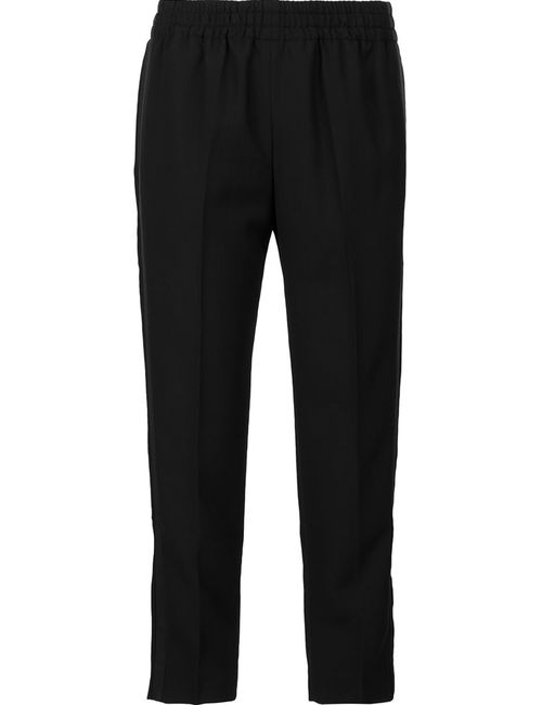 Faith Connexion | Женское Чёрный Cropped Trousers Medium Polyester/Virgin Wool
