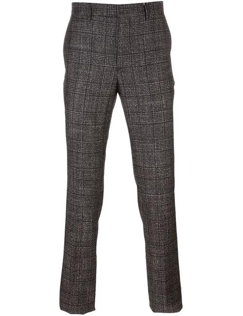 Salvatore Ferragamo | Черный Checked Chinos 46 Silk/Cashmere/Wool