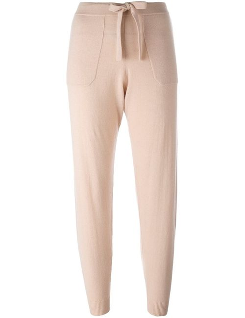 Allude | Женское Розовый Cropped Track Pants Small Cashmere/Virgin Wool