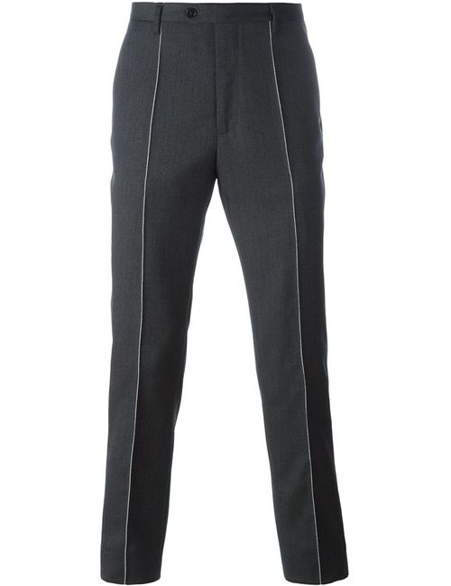 Maison Margiela | Серый Stitch Detail Tailored Trousers 46 Viscose/Mohair/Virgin