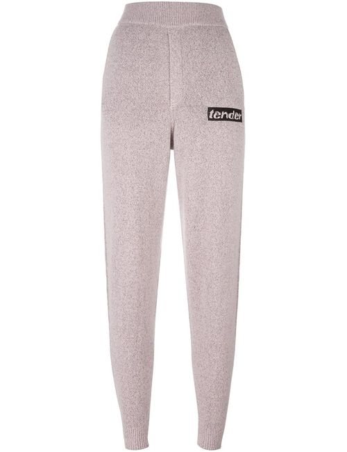 Alexander Wang | Розовый Tender Patch Knitted Trousers Xs Wool