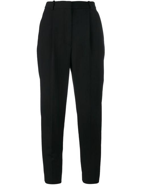 Alexander McQueen | Женское Чёрный High-Waisted Cropped Trousers 40 Cupro/Wool