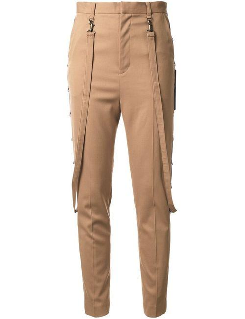 G.V.G.V. | Коричневый Strap Detail High-Waisted Trousers 36 Polyester/Polyurethane/Wool