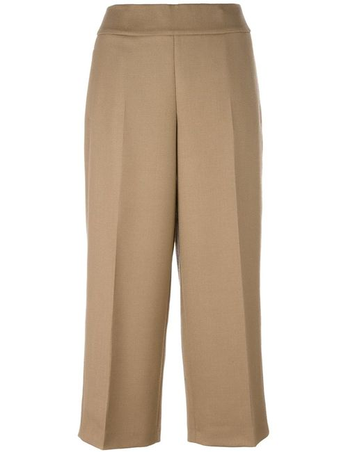 Akris | Женское Nude/Neutrals Front Pleat Culottes 40 Viscose/Wool