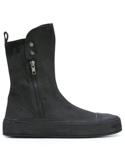 Ann Demeulemeester | Чёрный Round Toe Boots 37 Leather/Rubber