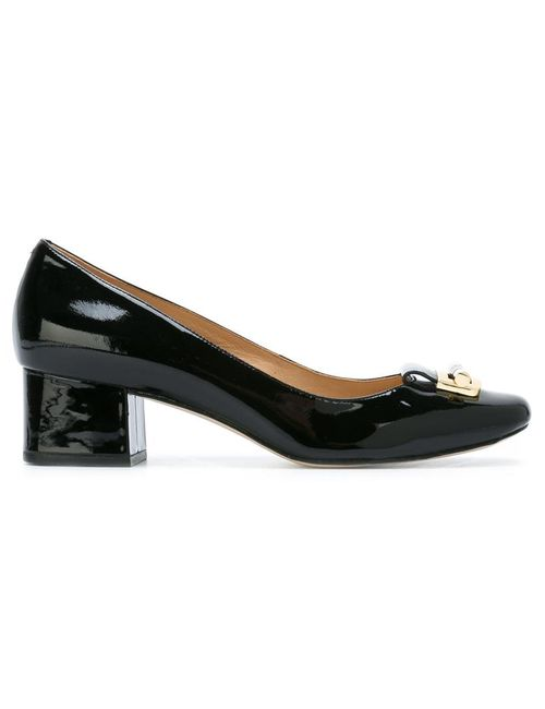 Michael Michael Kors | Черный Gloria Pumps 9 Leather/Patent Leather/Rubber