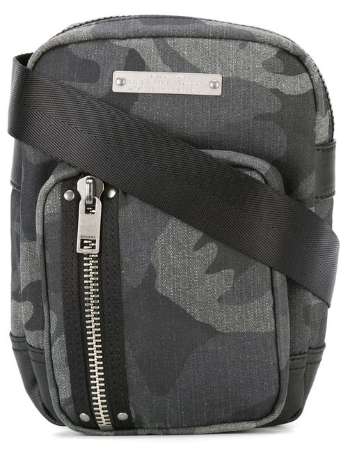 Diesel | Серый Gear Crossbody Bag Cotton/Nylon/Polyurethane