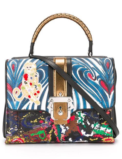 Paula Cademartori | Contrast Print Satchel Bag