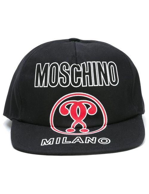 Moschino | Чёрный Double Question Mark Cap Medium Cotton/Nylon