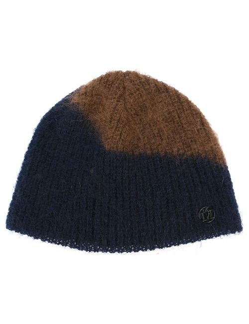 Maison Michel   Синий Two-Tone Beanie Polyamide/Mohair/Wool