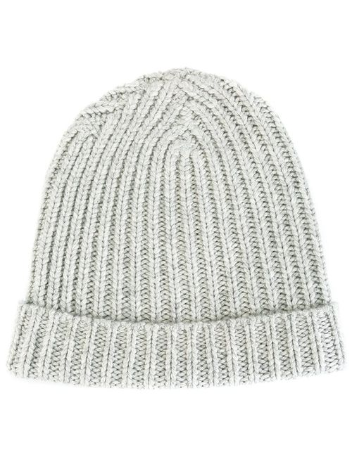 WARM-ME | Серый Ribbed Beanie Adult Unisex Cashmere/Merino