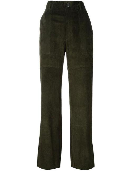 STOULS | Женское Зелёный Tabrouk Velours Trousers Medium Cotton/Spandex/Elastane/Lyocell/Lamb Nubuck Leather