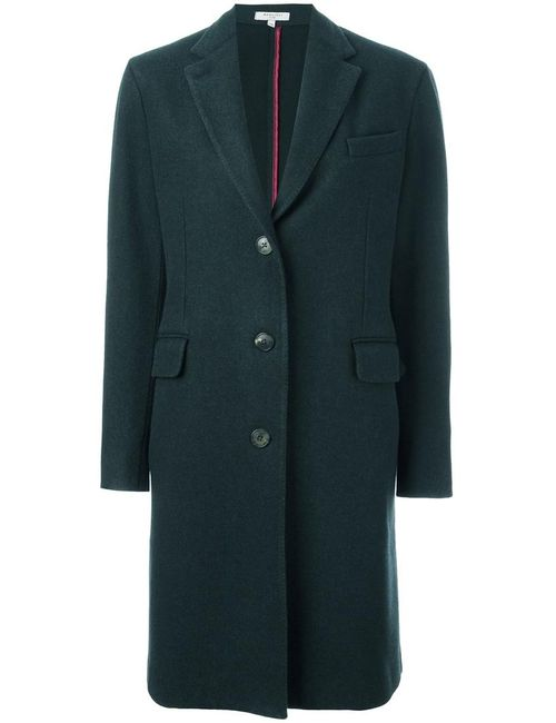 Boglioli | Женское Зелёный Flap Pockets Mid Coat 44 Cupro/Wool