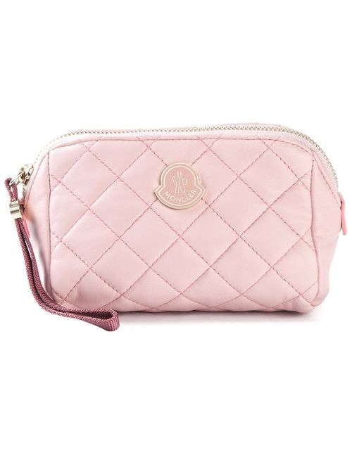 Moncler | Женская Розовая Стёганая Косметичка