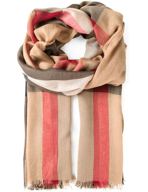 Burberry | Женское Nude & Neutrals Checked Scarf