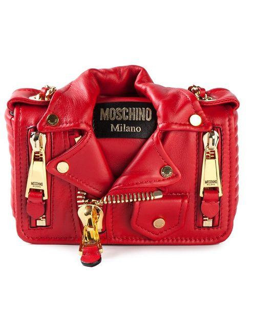 Moschino | Женское Красный Small Biker Shoulder Bag