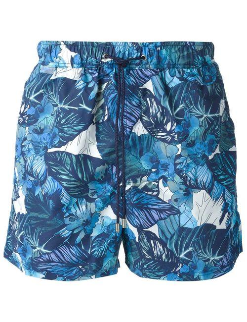 Etro   Мужские Синие Шорты Для Плавания С Принтом