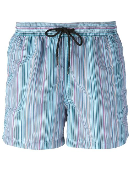 Paul Smith | Мужское Синий Striped Swim Shorts From