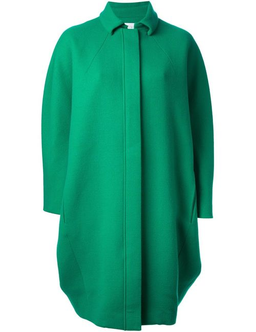 Gianluca Capannolo | Женское Зелёное Объёмное Пальто-Кокон