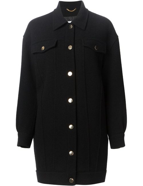 Moschino | Женское Чёрное Пальто Бойфернда