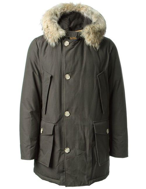 Woolrich | Мужская Коричневая Дутая Куртка С Капюшоном