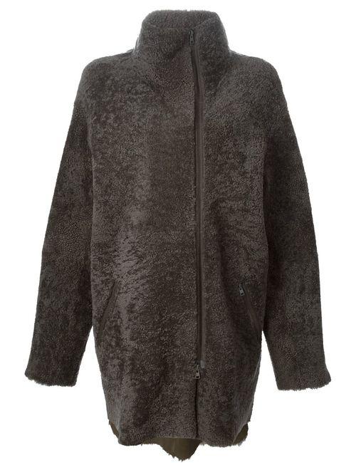 SPRUNG FRERES | Женское Серое Пальто На Молнии