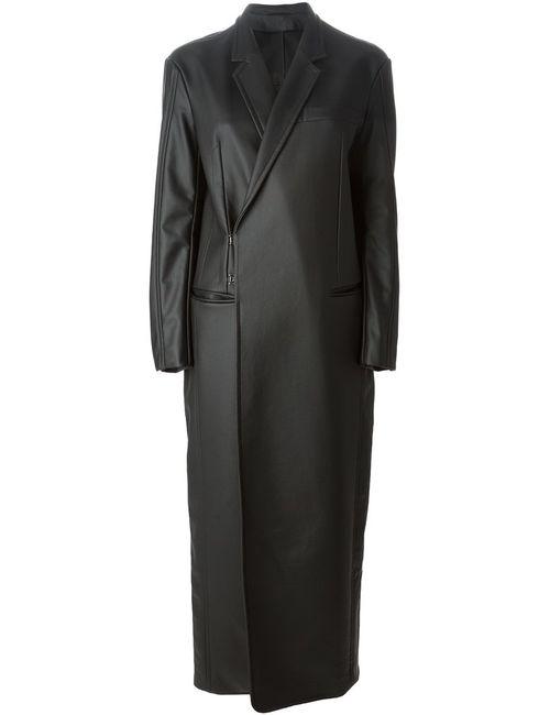 A.F.Vandevorst | Женское Черный Пальто С Эффектом Кожи