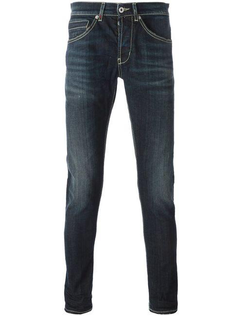 Dondup | Мужское Dark Stretch Cotton Stone Washed Slim Fit
