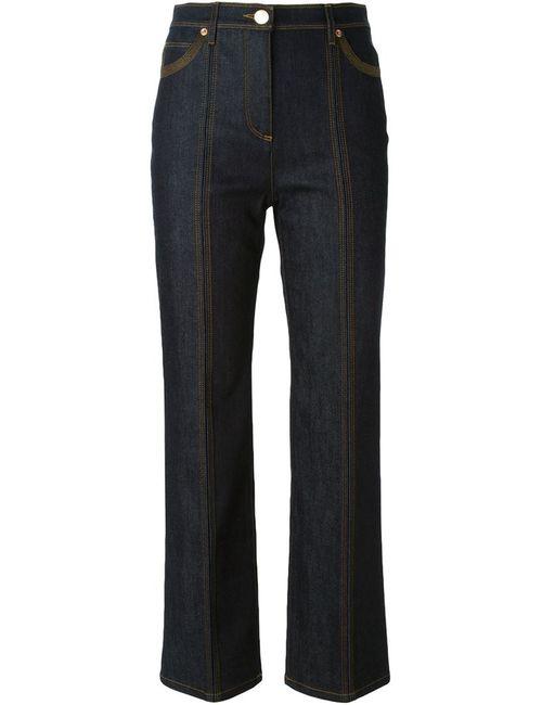 Valentino | Женские Синие Джинсы Расклешенные Ниже Колена