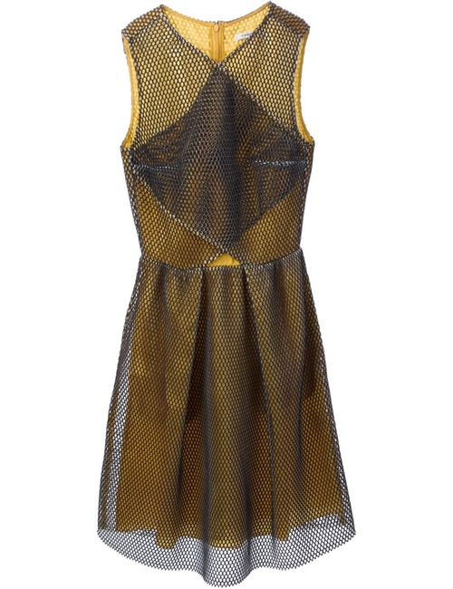 Carven   Женское And Tone Panelled Open-Knit Dress From Featuring