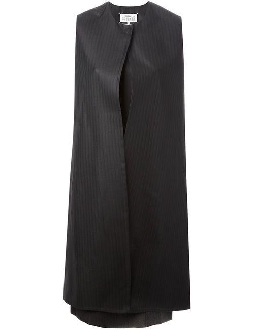 Maison Margiela | Женское Чёрное Платье-Шифт В Полоску