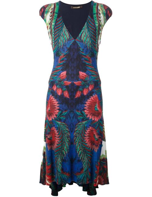 Roberto Cavalli | Женское And Exotic Print Dress From Featuring A