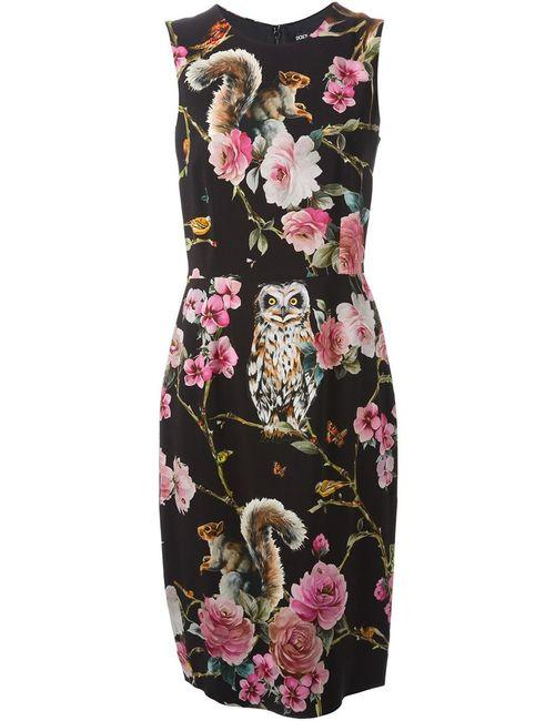 Dolce & Gabbana | Женское Чёрный Silk Blend Midi Dress From Featuring A