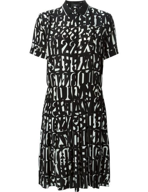 Paul Smith Black Label | Женское Чёрное Платье С Принтом
