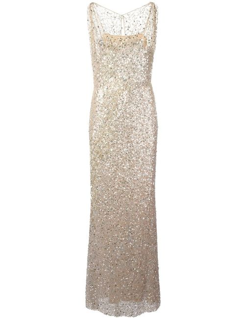 Jenny Packham | Женское Nude & Neutrals Sequin Evening Gown